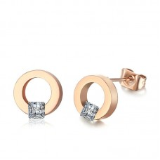 Crystal Collection Jewelry Wholesale Square Diamond Colored Hoop Earrings
