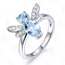 Fashion Jewelry Womens Dragonfly Cz Adjustable Size Finger Ring J0088