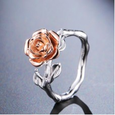 Fashion   Rose Flower Mixed Color Womens Finger Ring J0097