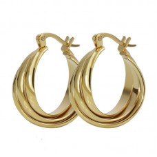 High quality european style gold color hoop earrings EH-058G