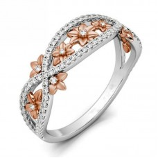 Rings Jewelry Women Crossed Designed Rose Gold Finger Ring With Different Sizes
