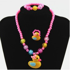 Fashion Jewelry Bracelets Ring And Necklace For Children Girls